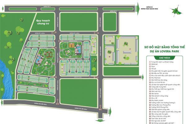 Sơ đồ Dự án Lovera Park Bình Chánh