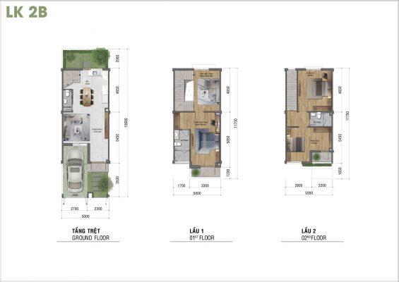 Mặt bằng thiết kế căn hộ dự án Lovera Park Bình Chánh