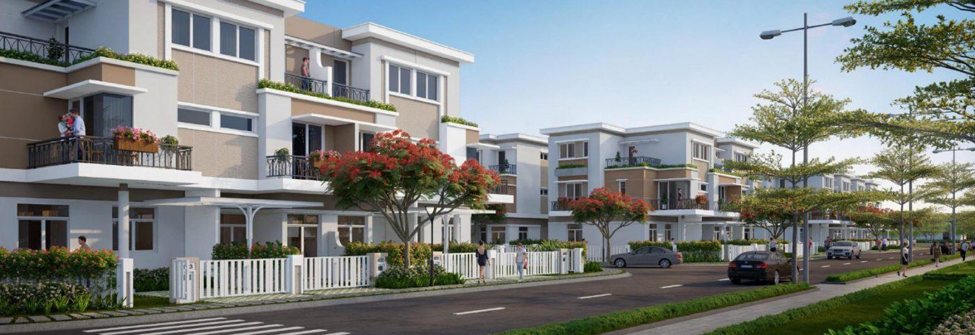 Phối cảnh nhà phố dự án Lovera Park Bình Chánh