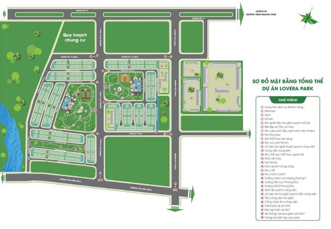 Mặt bằng tổng thể dự án Lovera Park Bình Chánh
