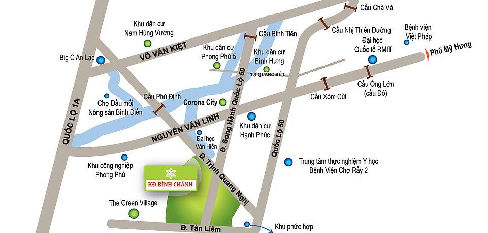 Vị trí dự án Lovera Park Bình Chánh